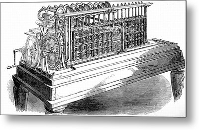 Scheutz's Calculating Machine Metal Print by Universal History Archive/uig