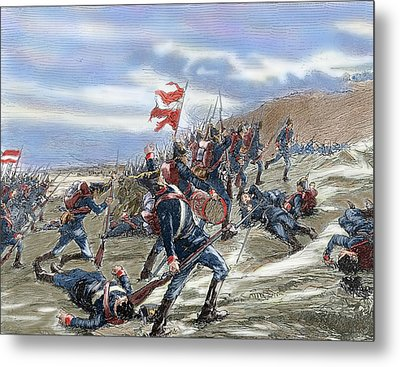 Schleswig-holstein Question. The First Schleswig War Or Three Years War 1848-1851. Fighting Metal Print by Bridgeman Images