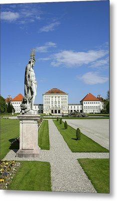 Schloss Nymphenburg In Muenchen, Castle Metal Print by Tips Images