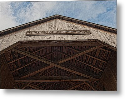 Schofield Ford Covered Bridge Metal Print