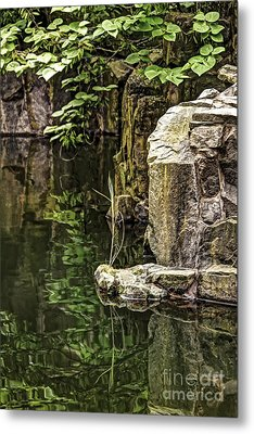 Metal Print featuring the photograph Scholar Garden Reflections by Vicki DeVico