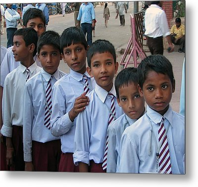 School Boys Metal Print