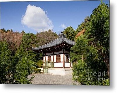 School Building Ryoan-ji Temple Kyoto Metal Print by Colin and Linda McKie