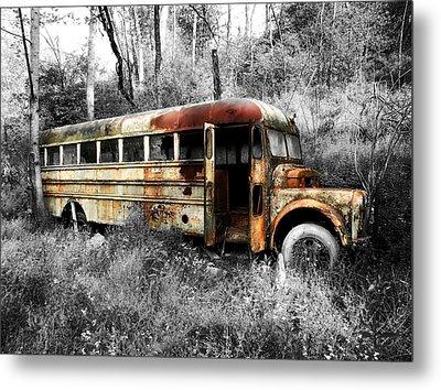 School Bus Metal Print by Steven Michael