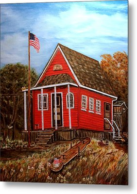 School House Metal Print by Kenneth LePoidevin