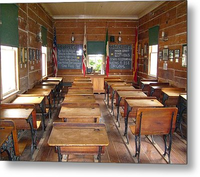 School House Metal Print