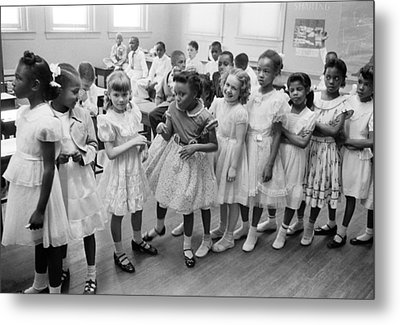 School Integration In 1955 Metal Print by Underwood Archives