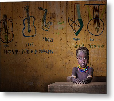 School Metal Print by Mohammed Al Sulaili