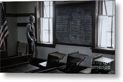 School Teach At Lower Fox Creek School In Kansas Metal Print by Keith Kapple