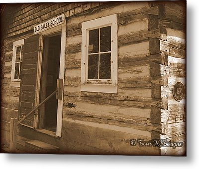 Schoolhouse Metal Print by Terri K Designs