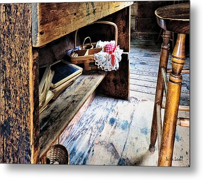 Schoolmarms Desk Metal Print by Susan Savad