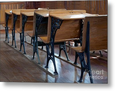 Schools Out For Summer - Pleasant Ridge Schoolhouse 1869 Metal Print by Liane Wright