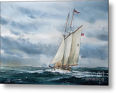 Schooner Adventuress Metal Print