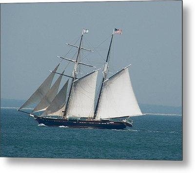 Schooner At Sail Metal Print