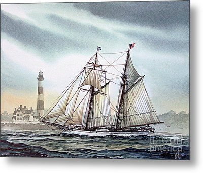 Schooner Light Metal Print by James Williamson