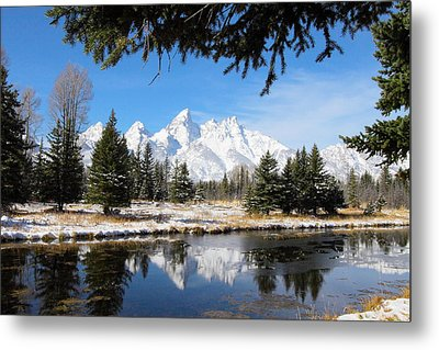 Schwabacher Landing - Grand Teton National Park Metal Print