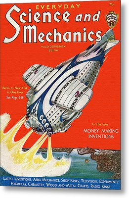 Science And Mechanics Magazine Cover 1931 Metal Print by Mountain Dreams