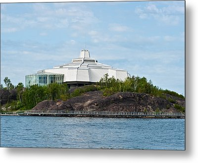 science center North in Sudbury Ontario Canada Metal Print by Marek Poplawski