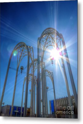 Science Center Sun Flare Metal Print by Chris Anderson