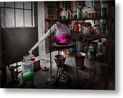Science - Chemist - Chemistry For Medicine  Metal Print by Mike Savad