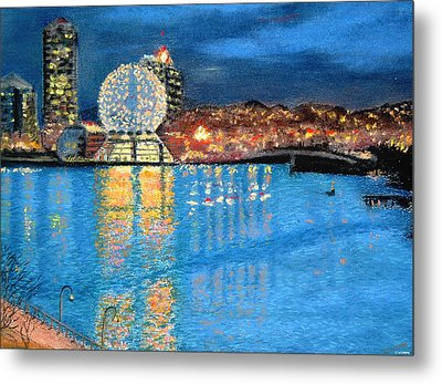 Science World Twilight Metal Print