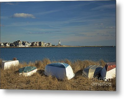 Scituate Harbor Boats Metal Print