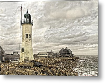 Metal Print featuring the photograph Scituate Lighthouse by Constantine Gregory