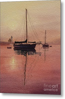 Metal Print featuring the painting Scituate Serenity by Karol Wyckoff