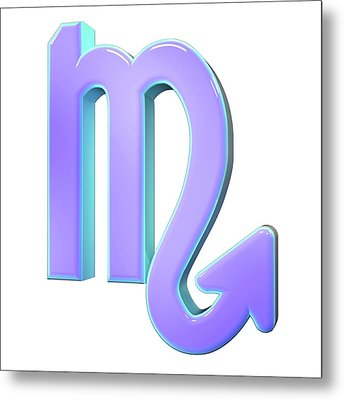Scorpio Sign Of The Zodiac Metal Print by Maurizio De Angelis