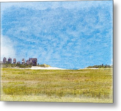 Scorton Creek Inlet Sandwich Cape Cod Metal Print by Constantine Gregory
