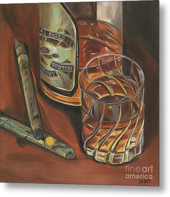Scotch And Cigars 3 Metal Print by Debbie DeWitt