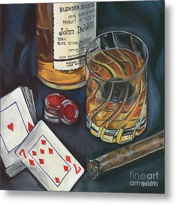Scotch And Cigars 4 Metal Print by Debbie DeWitt