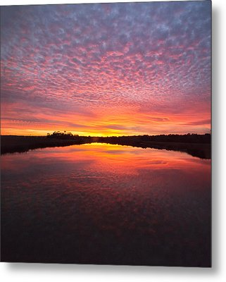 Scott Creek Sunset Panorama 03 Metal Print
