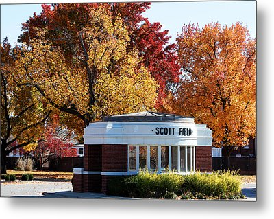 Scott Field  Old Main Gate  Metal Print by John Freidenberg