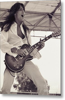 Scott Gorham Of Thin Lizzy Black Rose Tour At Day On The Green 4th Of July 1979  Metal Print