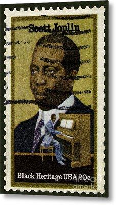 Scott Joplin Stamp Metal Print