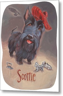 Scottie's Beaming Metal Print by Shawn Shea