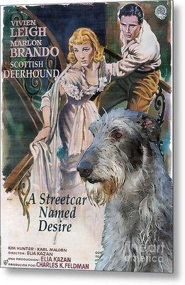 Scottish Deerhound Art - A Streetcar Named Desire Movie Poster Metal Print by Sandra Sij