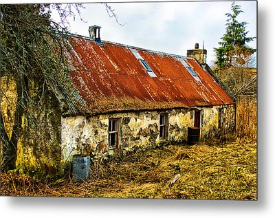 Scottish Highland Croft Metal Print by Jacqi Elmslie