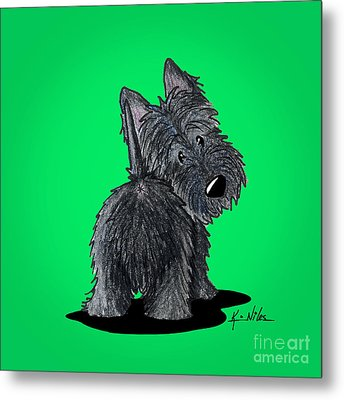 Scottish Moon Metal Print by Kim Niles