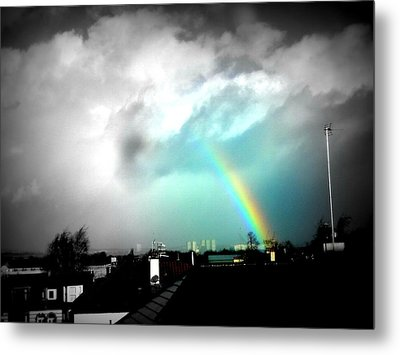 Scottish Rainbow Metal Print