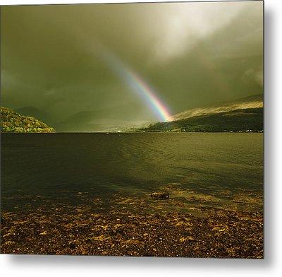 Scottish Rainbow On Loch Fyne Metal Print by Jane McIlroy