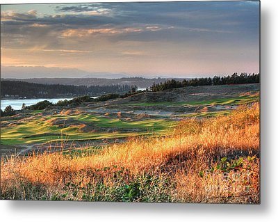 Scottish Style Links In September - Chambers Bay Golf Course Metal Print by Chris Anderson