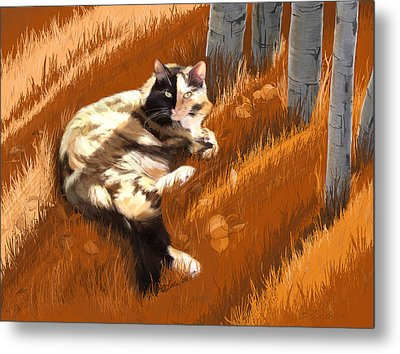Scout In Autumn Metal Print
