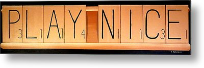 Scrabble Metal Print by Karyn Robinson