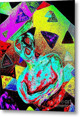 Scream Abstract Art Metal Print