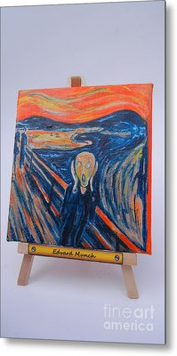 Metal Print featuring the painting Scream by Diana Bursztein