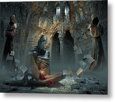 Scream Metal Print by George Grie