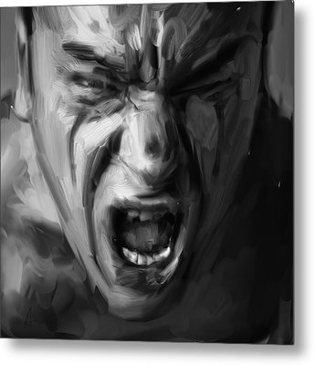 Scream Metal Print by H James Hoff