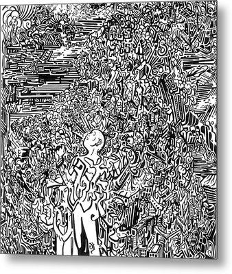 Scream Metal Print by Zachary Worth